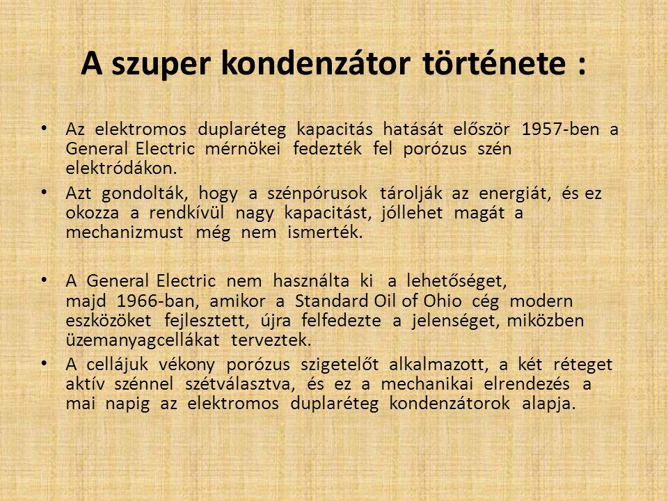 A szuper kondenzátor története :