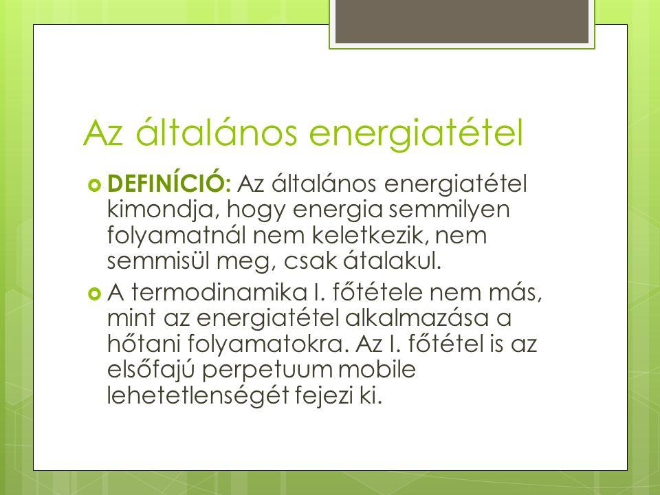 Az általános energiatétel