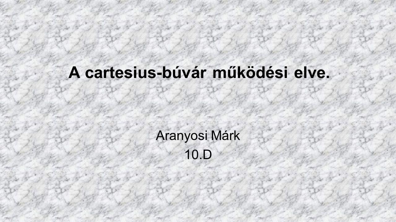 A cartesius-búvár működési elve.