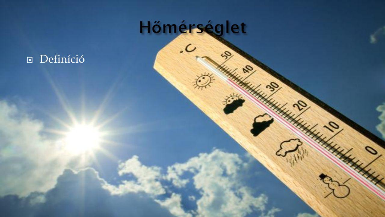 Hőmérséglet Definíció