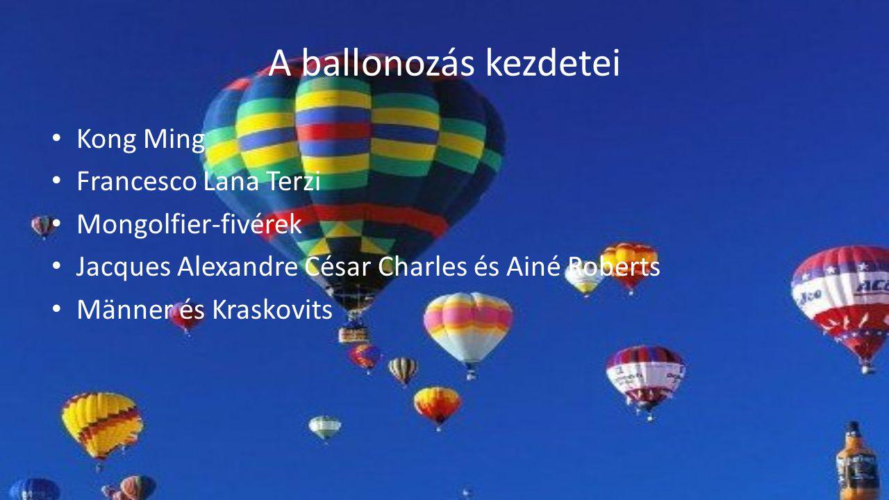 A ballonozás kezdetei Kong Ming Francesco Lana Terzi