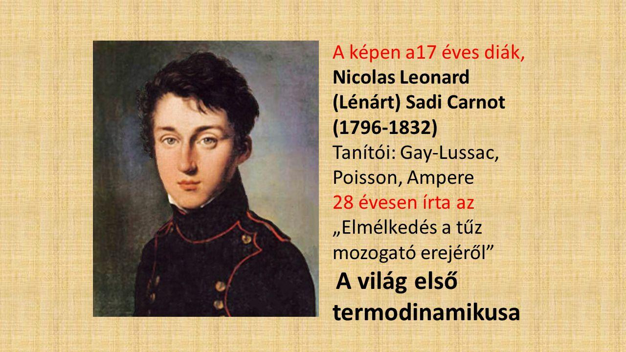 Nicolas Leonard (Lénárt) Sadi Carnot (1796-1832)