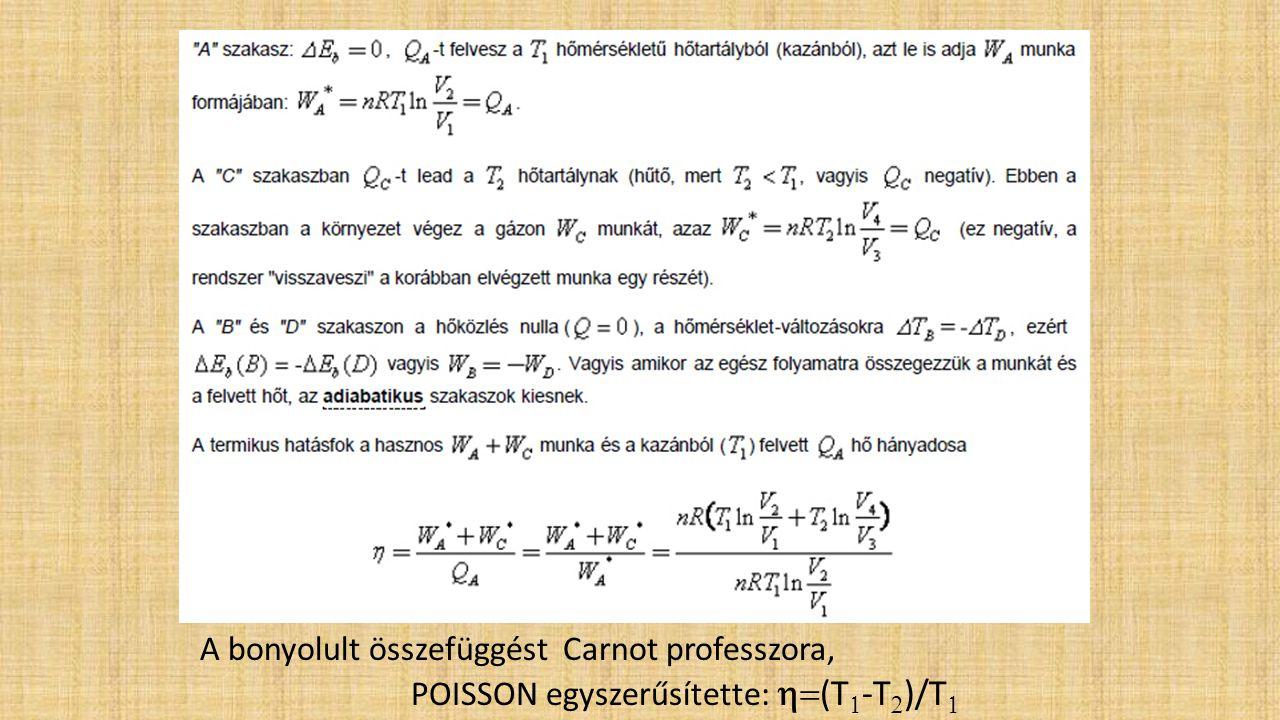 A bonyolult összefüggést Carnot professzora,