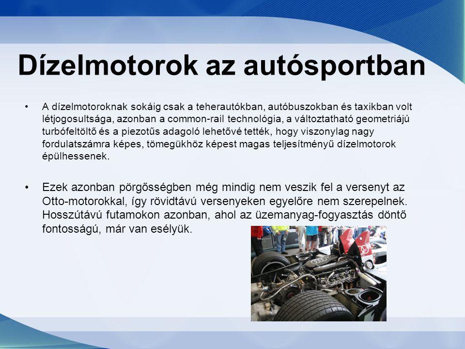Dízelmotorok az autósportban