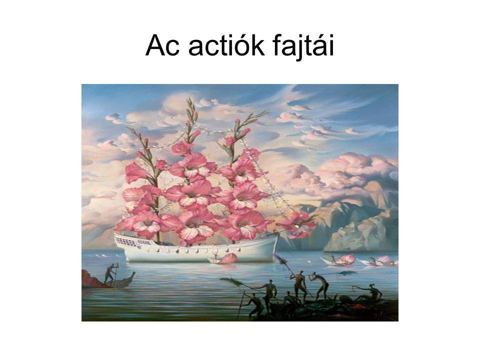 Ac actiók fajtái