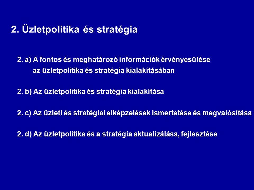2. Üzletpolitika és stratégia