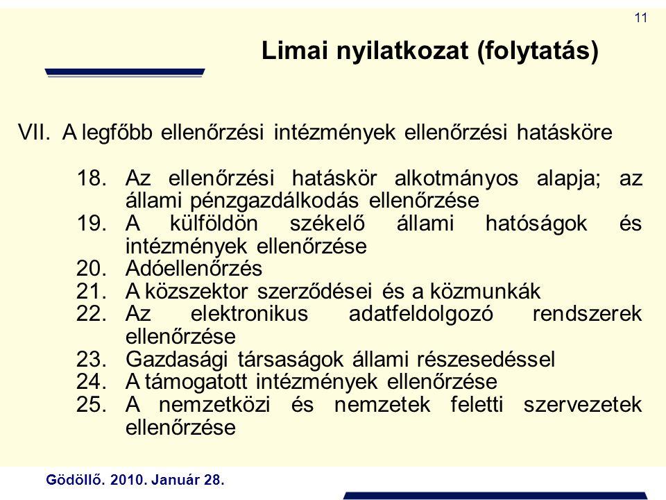 Limai nyilatkozat (folytatás)
