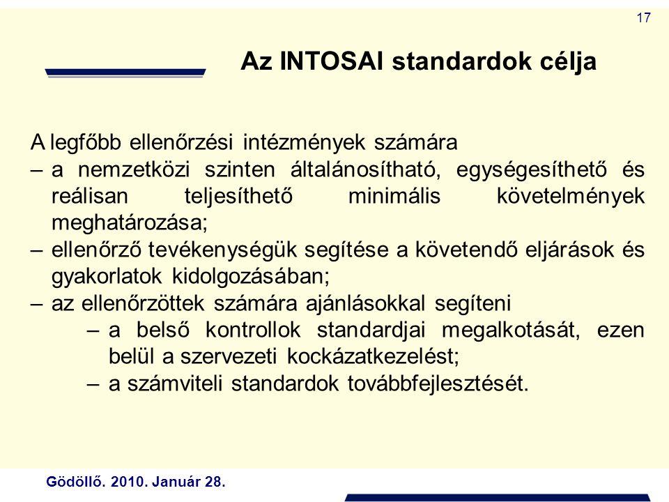 Az INTOSAI standardok célja