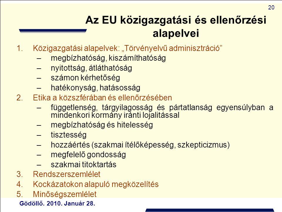 Az EU közigazgatási és ellenőrzési alapelvei