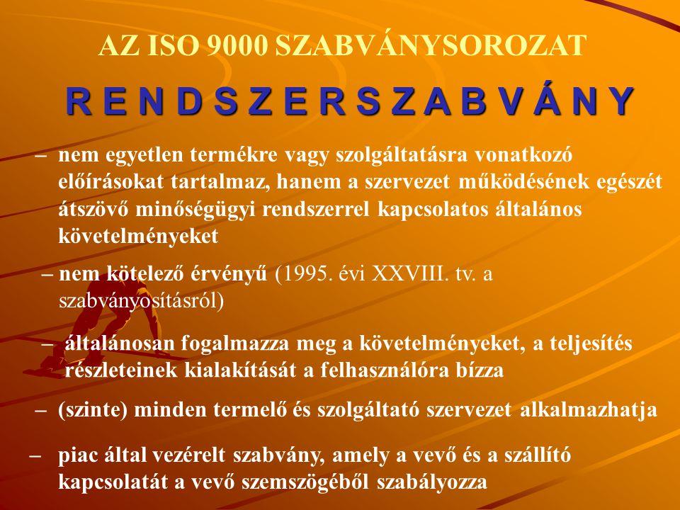 AZ ISO 9000 SZABVÁNYSOROZAT