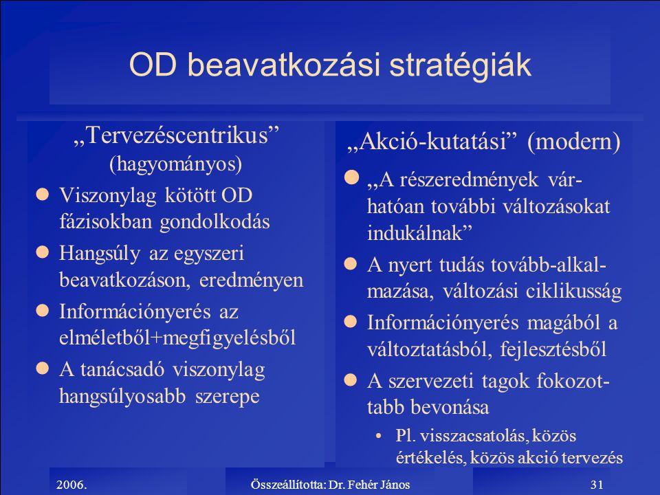 OD beavatkozási stratégiák