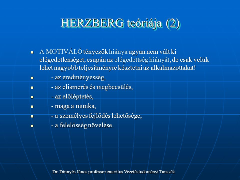 HERZBERG teóriája (2)