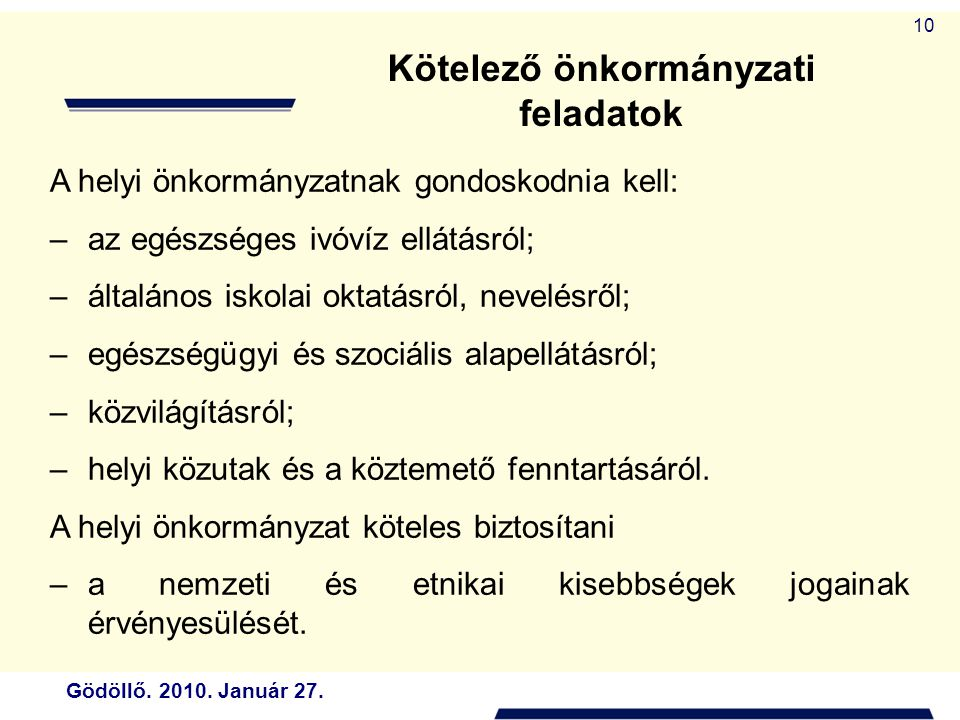 Kötelező önkormányzati feladatok