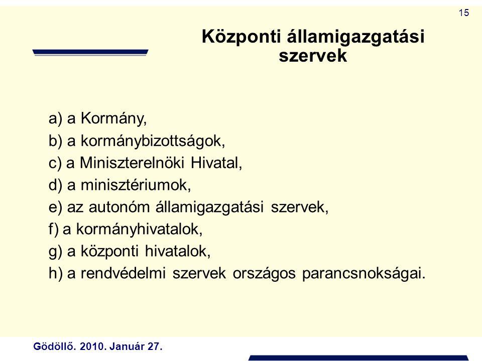 Központi államigazgatási szervek