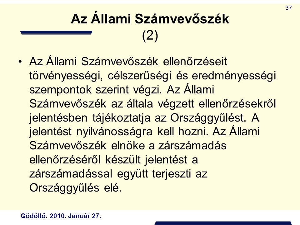 Az Állami Számvevőszék (2)