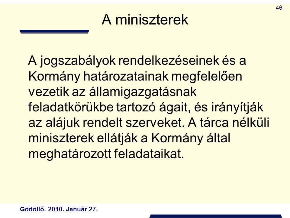 A miniszterek