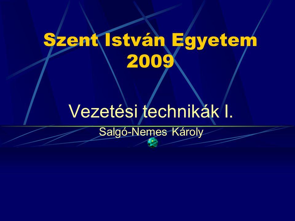 Vezetési technikák I. Salgó-Nemes Károly