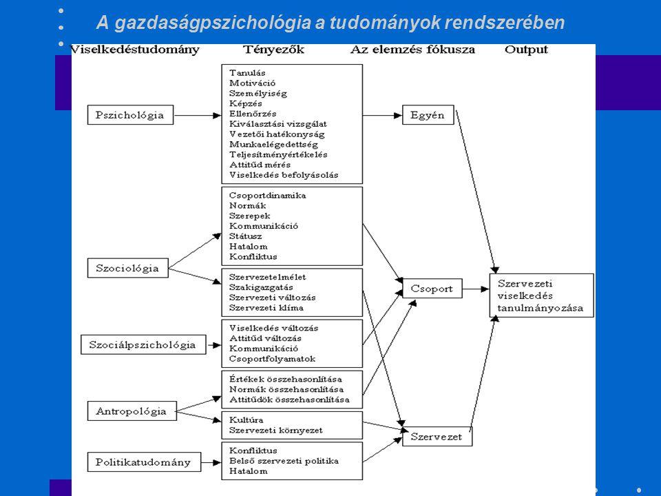 A gazdaságpszichológia a tudományok rendszerében
