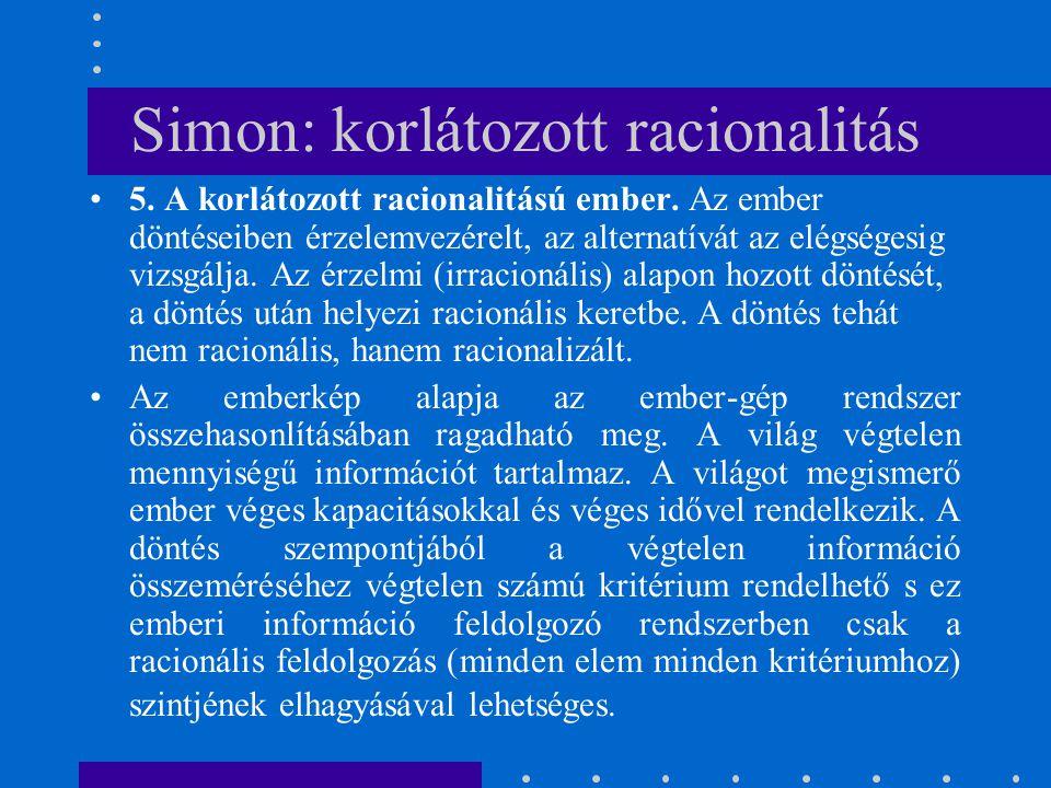 Simon: korlátozott racionalitás
