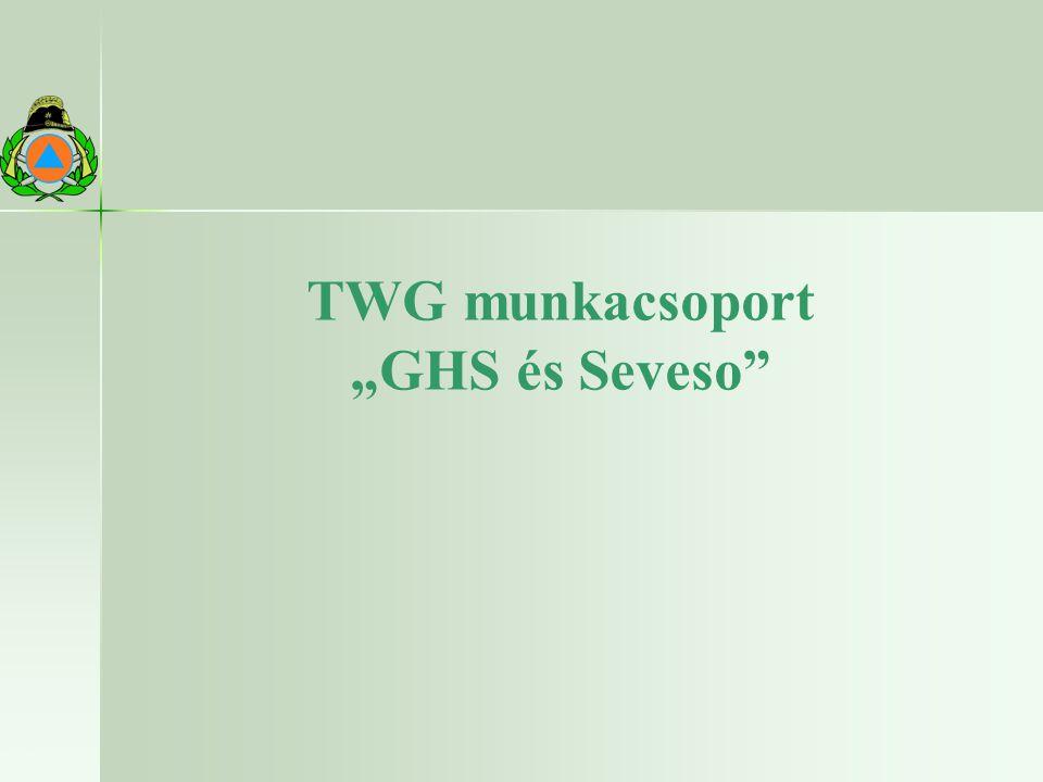 "TWG munkacsoport ""GHS és Seveso"