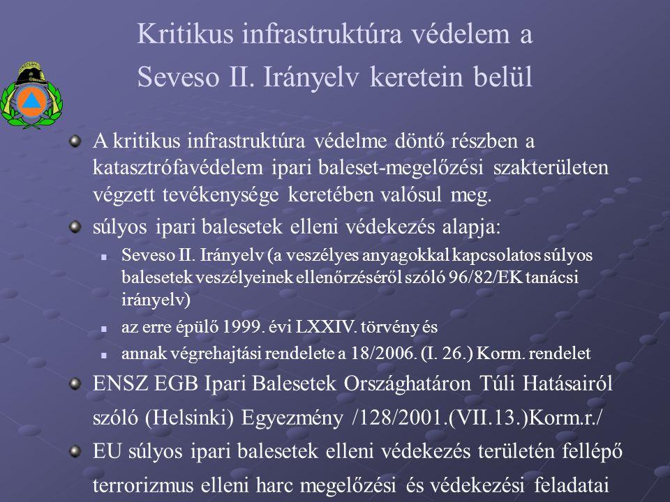 Kritikus infrastruktúra védelem a Seveso II. Irányelv keretein belül