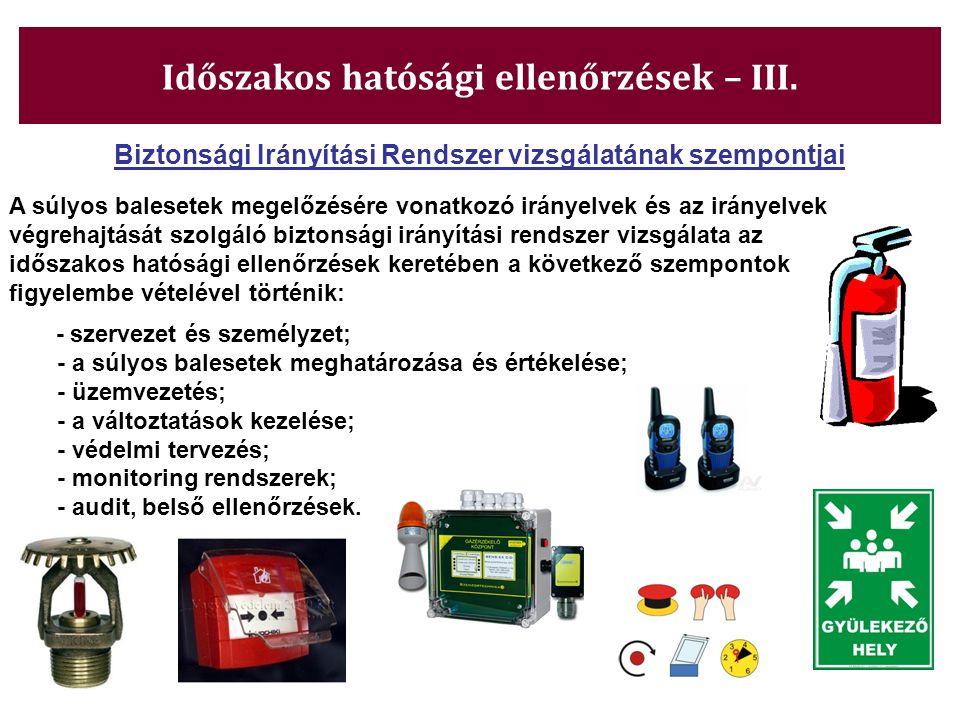 Időszakos hatósági ellenőrzések – III.