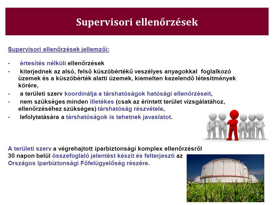 Supervisori ellenőrzések