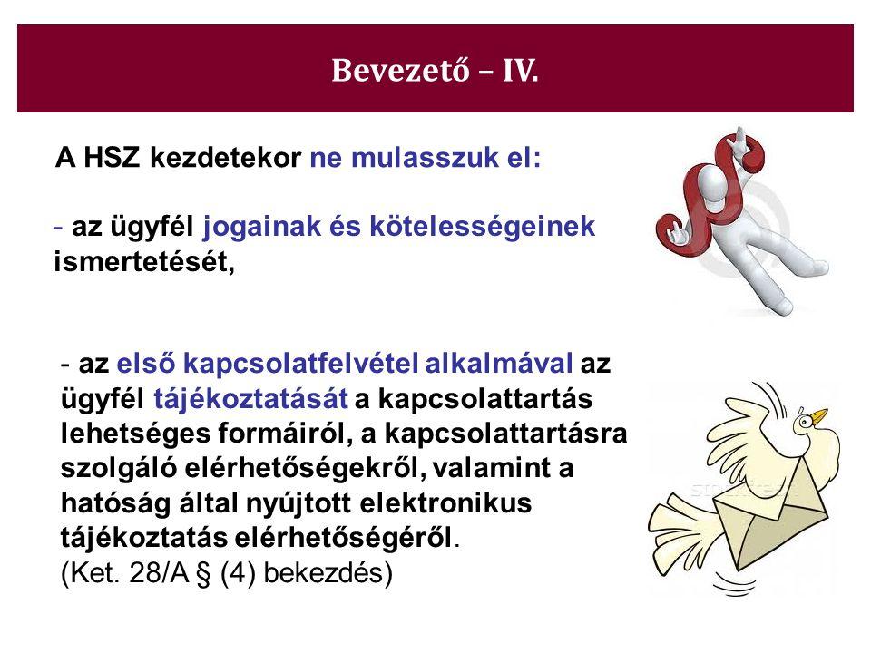 A HSZ kezdetekor ne mulasszuk el: