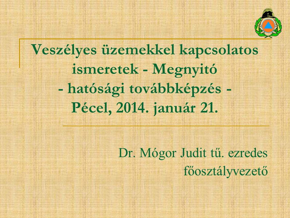 Dr. Mógor Judit tű. ezredes főosztályvezető