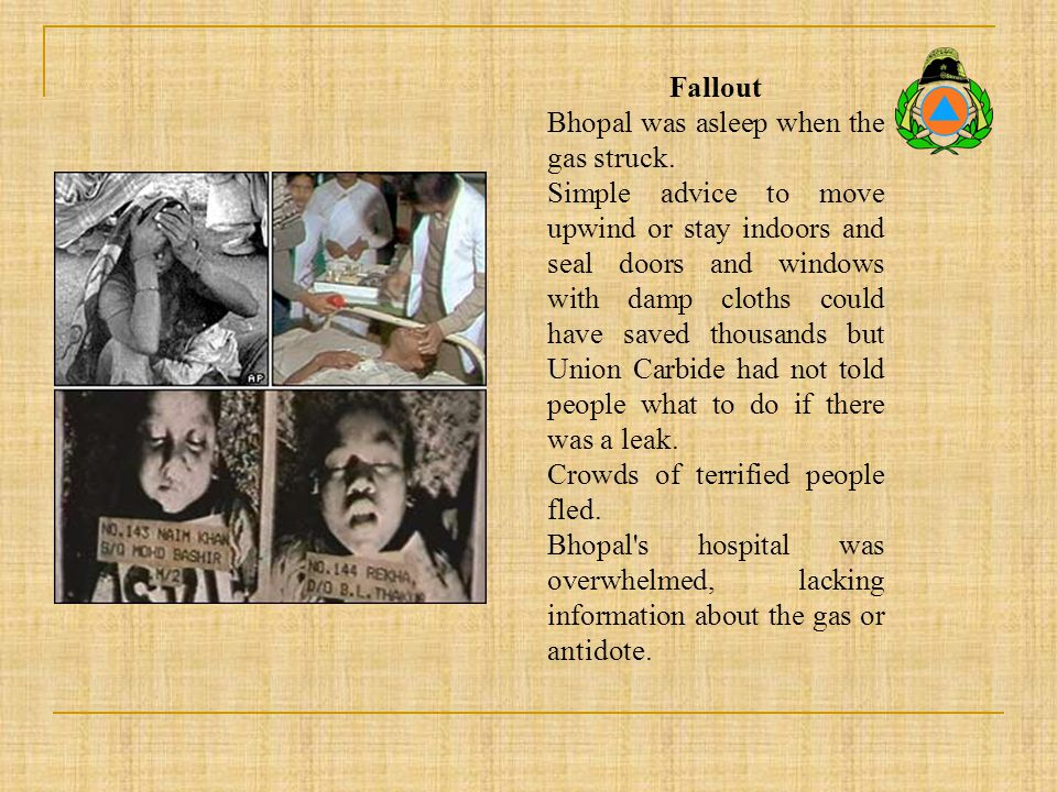 Fallout Bhopal was asleep when the gas struck.