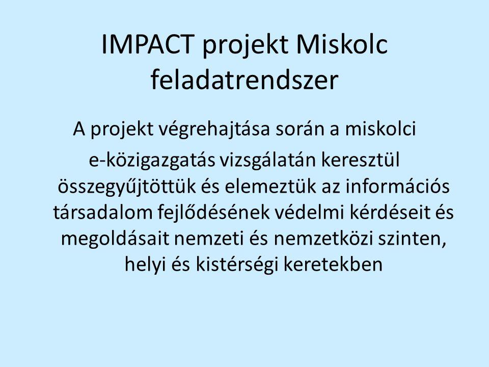 IMPACT projekt Miskolc feladatrendszer