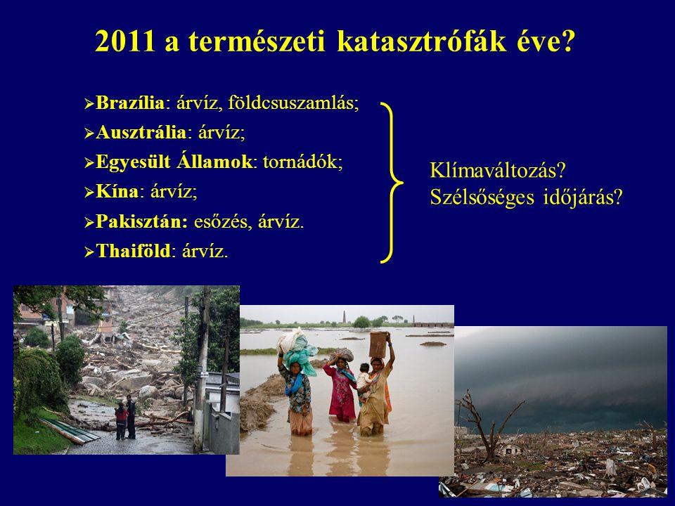 2011 a természeti katasztrófák éve