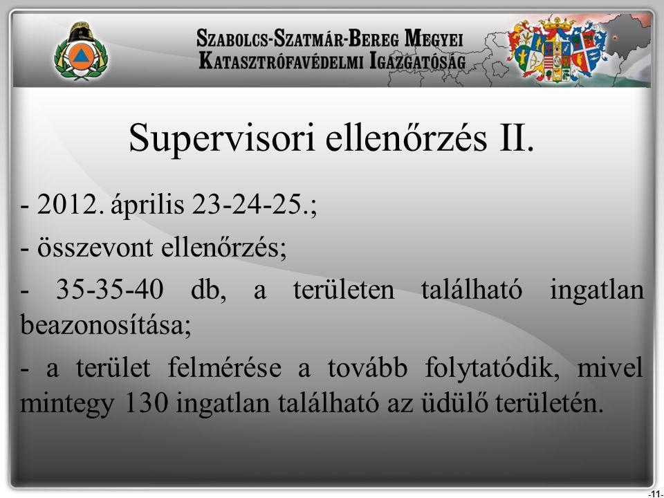 Supervisori ellenőrzés II.