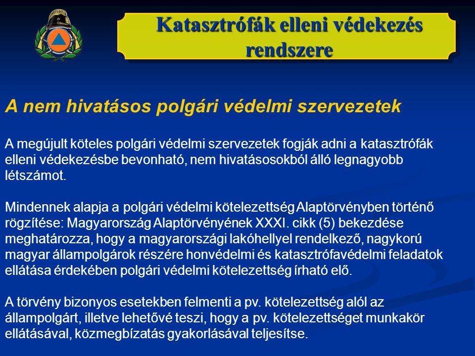 Katasztrófák elleni védekezés rendszere