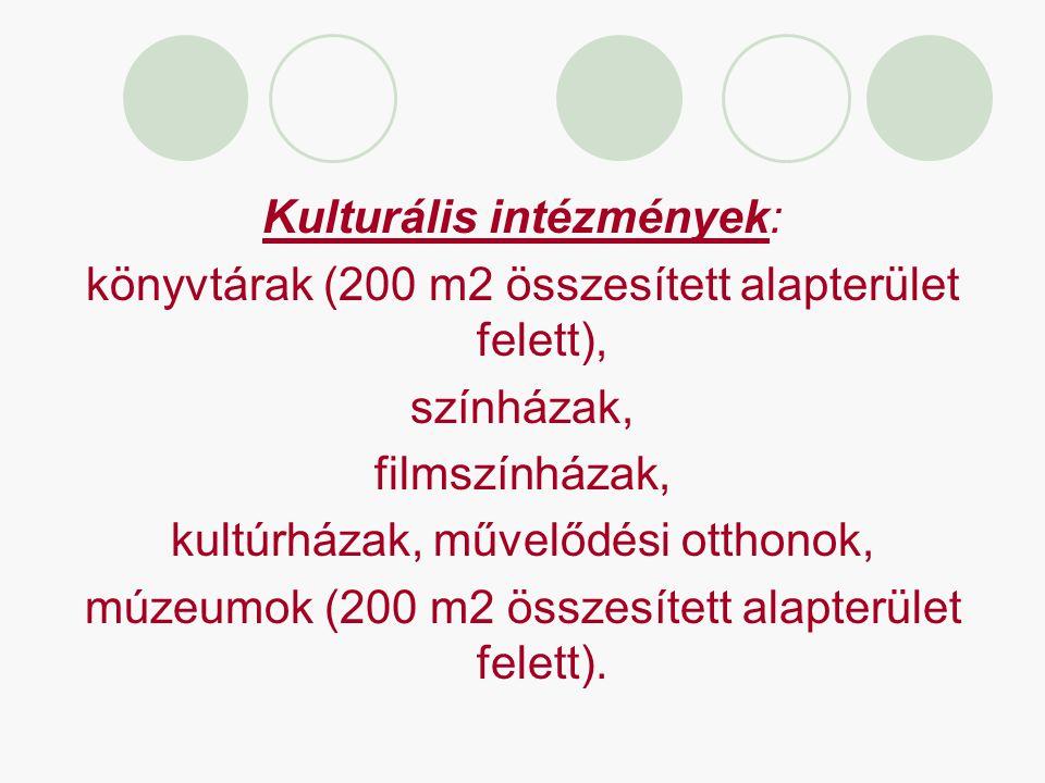 Kulturális intézmények: