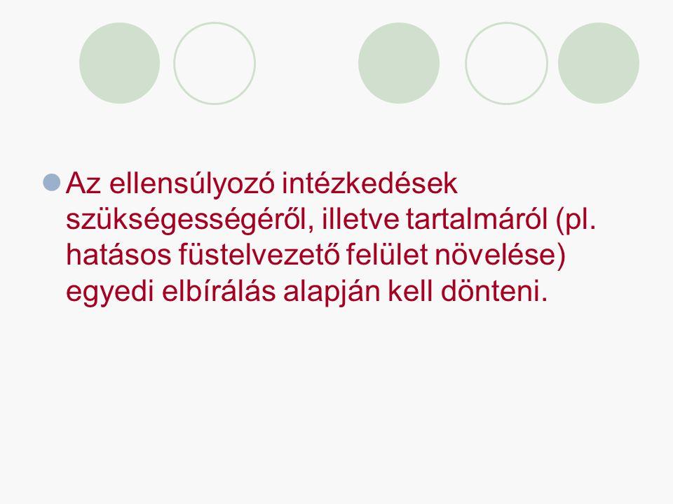 Az ellensúlyozó intézkedések szükségességéről, illetve tartalmáról (pl