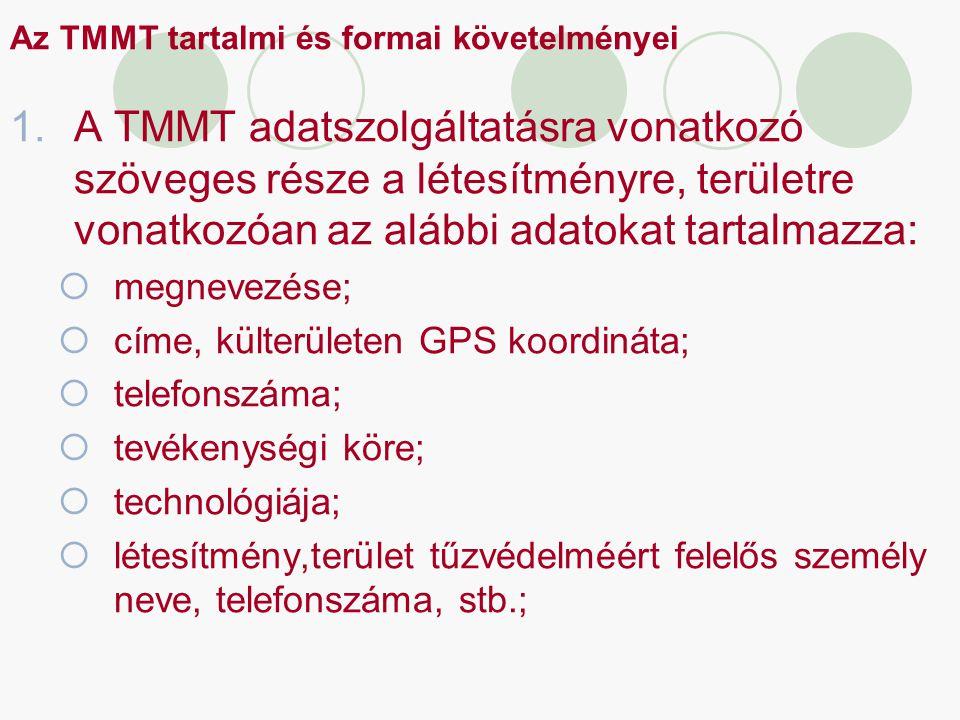 Az TMMT tartalmi és formai követelményei