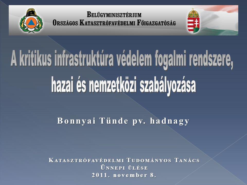 Bonnyai Tünde pv. hadnagy Katasztrófavédelmi Tudományos Tanács