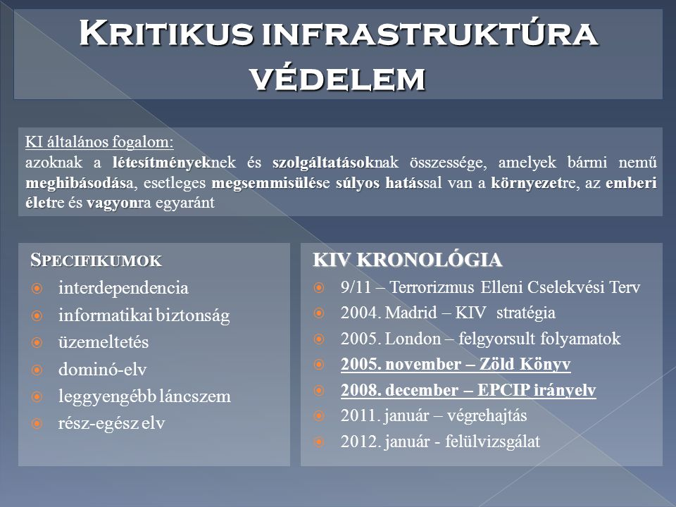 Kritikus infrastruktúra védelem