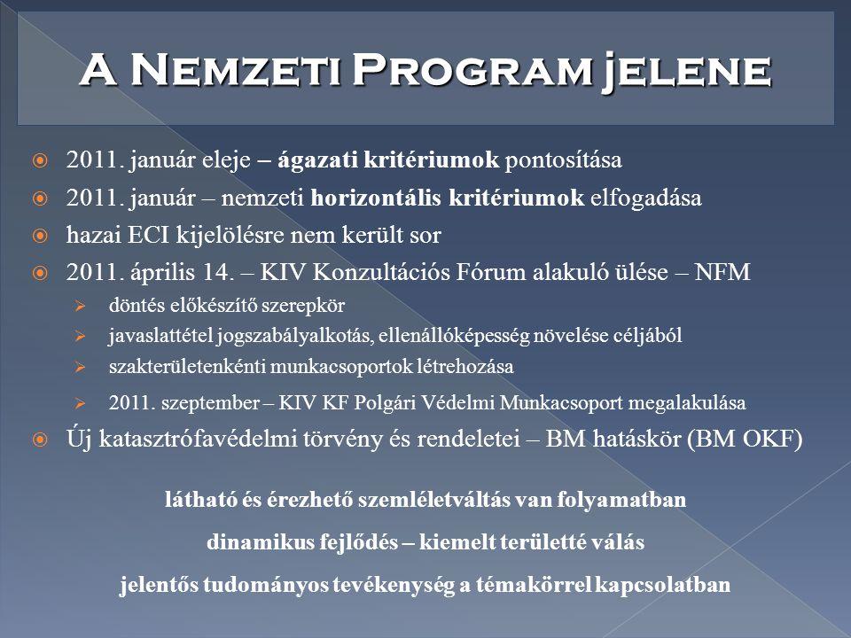 A Nemzeti Program jelene