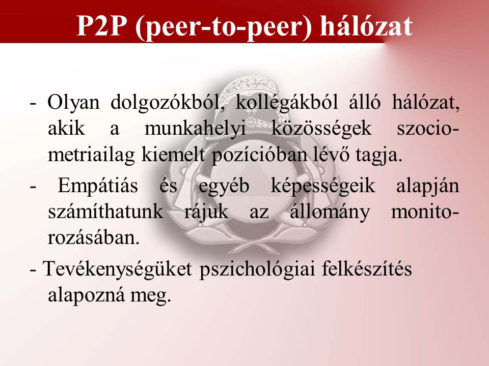 P2P (peer-to-peer) hálózat