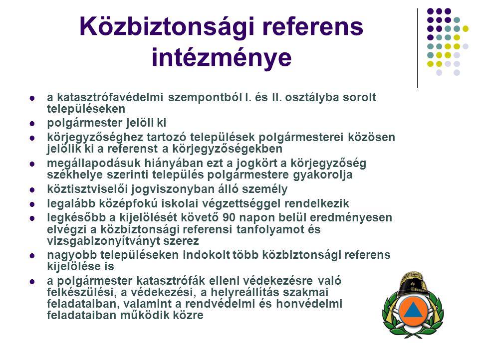 Közbiztonsági referens intézménye