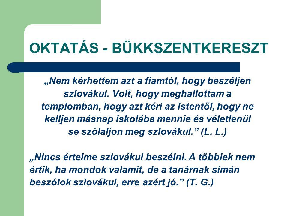 OKTATÁS - BÜKKSZENTKERESZT