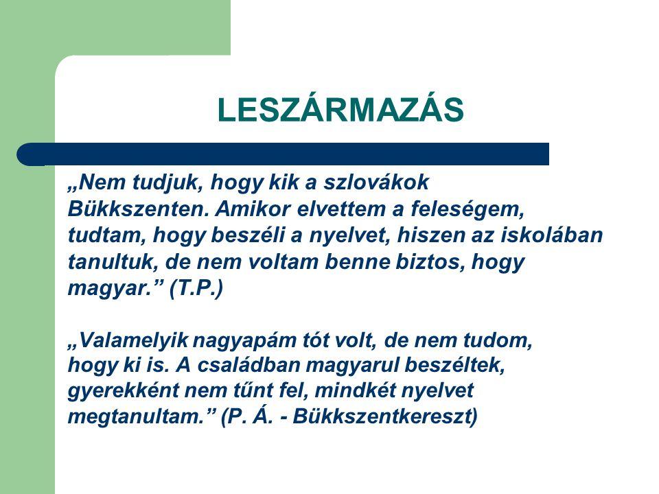 """LESZÁRMAZÁS """"Nem tudjuk, hogy kik a szlovákok"""