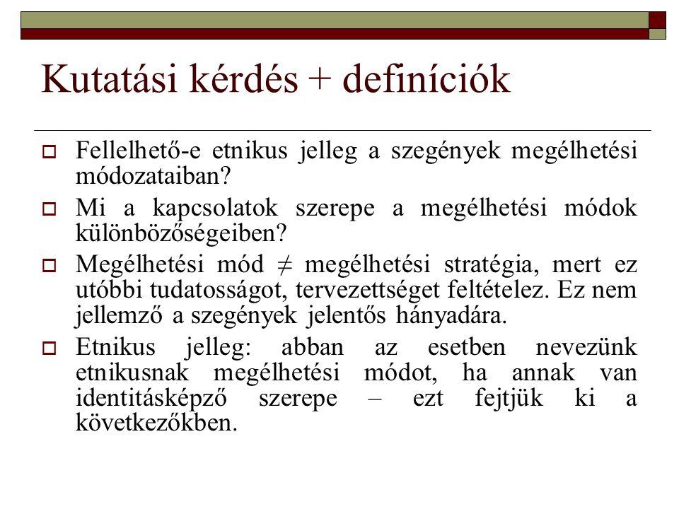 Kutatási kérdés + definíciók