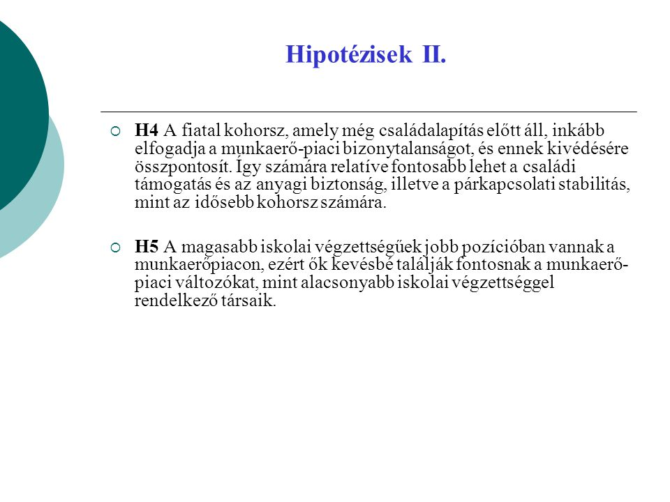 Hipotézisek II.