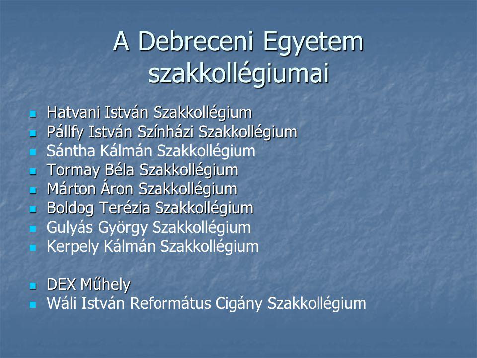 A Debreceni Egyetem szakkollégiumai
