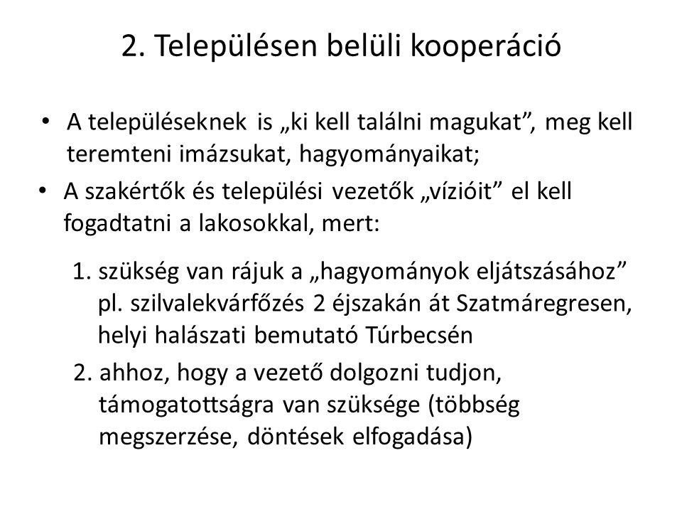 2. Településen belüli kooperáció