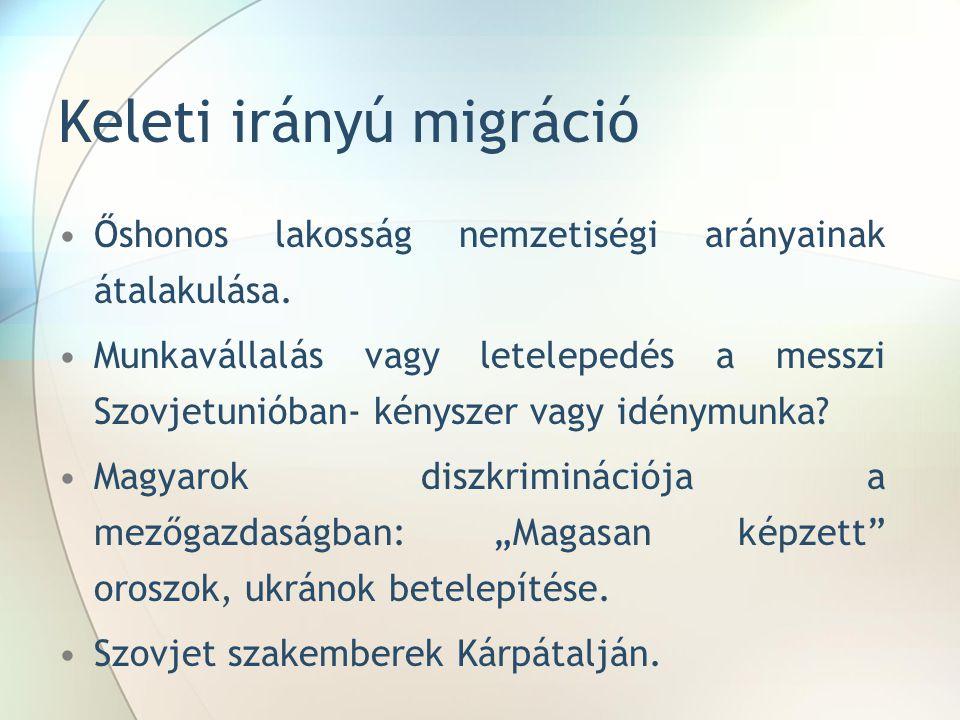 Keleti irányú migráció