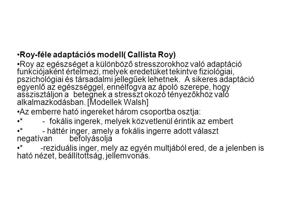 Roy-féle adaptációs modell( Callista Roy)